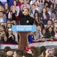Lady Gaga participe au dernier meeting de Hillary Clinton, candidate démocrate aux élections présidentielles américaines, à Raleigh. Le 8 novembre 2016.