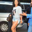Rihanna exprime son soutien à Hillary Clintonà New York le 19 octobre 2016.