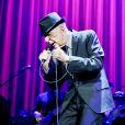 Leonard Cohen en concert au Globe Arena a Stockholm. Le 15 aout 2013