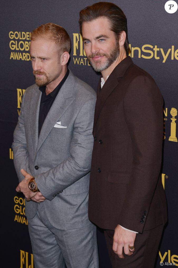 Ben Foster et Chris Pine lors de la soirée Hollywood ...