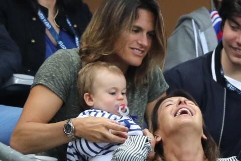 """Fed Cup 2016 - Amélie Mauresmo : """"Une femme heureuse"""" avec son fils Aaron..."""