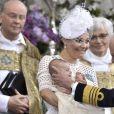 Photo officielle du baptême du prince Oscar de Suède, fils de la princesse Victoria et du prince Daniel, par Kate Gabor le 27 mai 2016. © Claudio Bresciani, TT / Kungahuset (Cour royale de Suède)