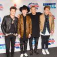 Le groupe Rixton : Charley Bagnall, Jake Roche, Lewi Morgan et Danny Wilkin au Capital FM Summertime Ball le 6 juin 2015