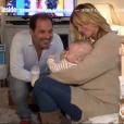 """Ingrid Chauvin et Thierry Peythieu avec leur fils Tom dans """"50 minutes inside"""" sur TF1, le 5 novembre 2016."""