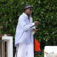 Exclusif - L'ancien joueur de la NBA Dennis Rodman passe un moment avec des amis a Miami, le 13 decembre 2013.