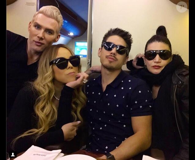 Mariah Carey et Bryan Tanaka (centre) sur une photo publiée sur Instagram le 19 novembre 2016