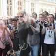 """Arielle Dombasle au défilé de mode Haute-Couture automne-hiver 2016/2017 """"Jean-Paul Gaultier"""" à Paris. Le 6 juillet 2016 © CVS-Veeren / Bestimage"""