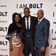 Jennifer Bolt, Usain Bolt et Wellesley Bolt à la première de 'I Am Bolt' à The Odeon à Leicester Square à Londres, le 28 novembre 2016.
