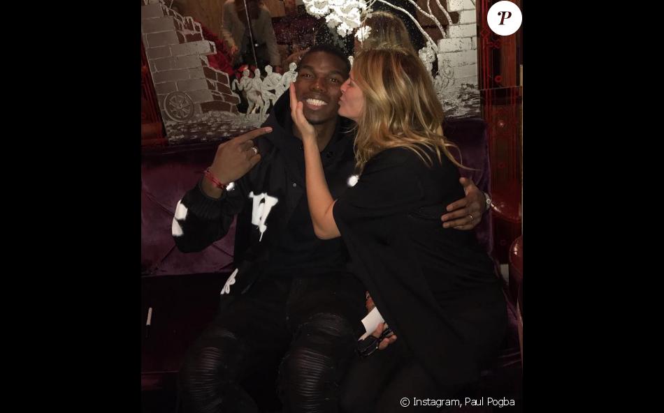 Paul Pogba a rencontré Julia Roberts le 27 novembre 2016 - Photo postée sur Instagram le 28 novembre 2016.