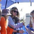 Julia Roberts avec sa fille Hazel lors d'un match organisé à Malibu le 22 octobre 2016.