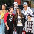 """""""Prince Jackson, Paris Jackson, Blanket Jackson lors d'une cérémonie au Grauman's Chinese Theatre à Hollywood, le 26 janvier 2012"""""""