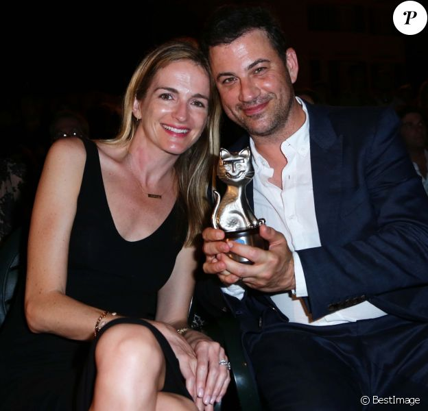 Jimmy Kimmel et Molly Mcnearney à la Soirée du Festival Global Film & Music à Ischia en Italie le 12 juillet 2015. Le couple attend actuellement son deuxième enfant.