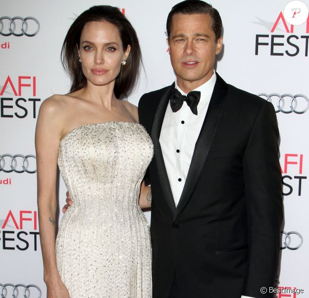 "Angelina Jolie et son mari Brad Pitt - Première de ""By the Sea"" à Los Angeles le 5 novembre 2015. © CPA/Bestimage"