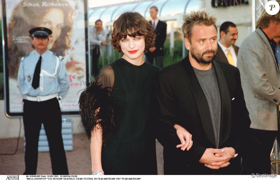 Milla Jovovich et Luc Besson - Festival de Deauville en 1997