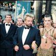 Milla Jovovich et Luc Besson - Festival de Cannes 1997