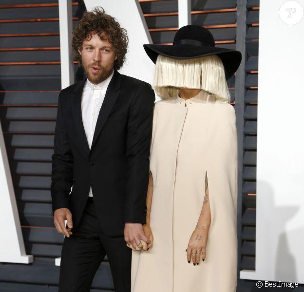 """Erik Anders Lang et Sia - People à la soirée """"Vanity Fair Oscar Party"""" à Hollywood, le 22 février 2015."""