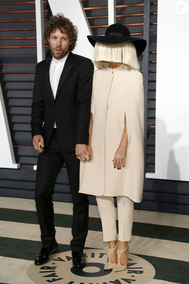 "Erik Anders Lang et Sia - People à la soirée ""Vanity Fair Oscar Party"" à Hollywood, le 22 février 2015."
