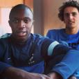 Antoine Conte pose avec Adrien Rabiot, le 21 août 2013.