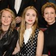"""Audrey Lamy, Chloé Jouannet et sa mère Alexandra Lamy - Enregistrement de l'émission """"Vivement Dimanche"""" à Paris le 11 Fevrier 2015."""