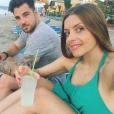 Alexia en vacances en Grèce avec son compagnon Stéphane. Juin 2016.