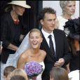 Stéphanie Renouvin, petite-fille de Sean Connery et son mari Julien Hervé