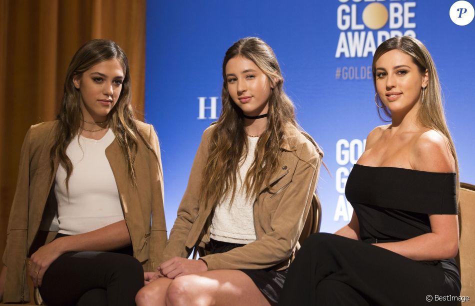 Sistine Stallone, Scarlet Stallone, Sophia Stallone - Annonce des nominations de la 74e cérémonie annuelle des Golden Globes Awards à Beverly Hills. Le 12 décembre 2016