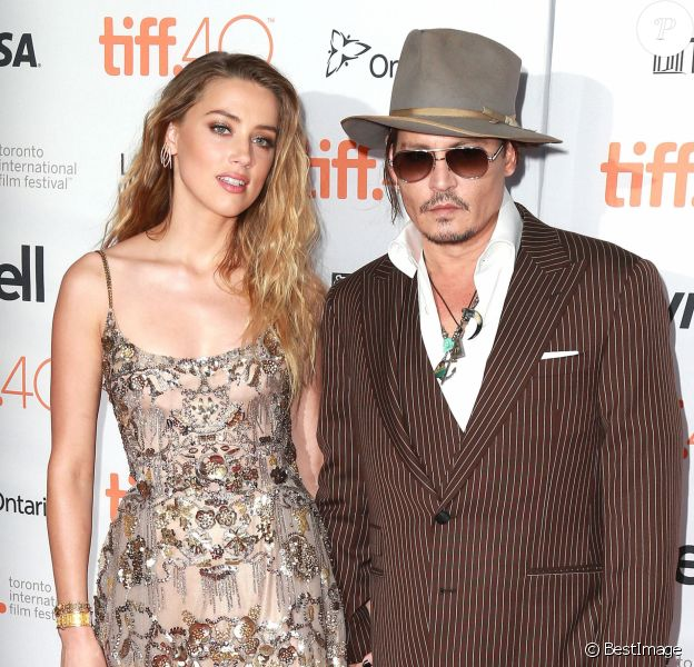 "Johnny Depp et Amber Heard - Première du film ""The Danish Girl"" au festival International du film de Toronto (TIFF) le 12 septembre 2015"