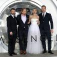 Michael Sheen, Morten Tyldum, Jennifer Lawrence, Chris Pratt- Avant-première de Passengers au théâtre The Regency Village à Westwood, le 14 décembre 2016