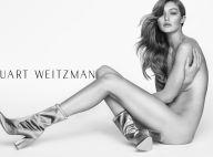 Gigi Hadid : Nue et bien chaussée, elle attaque 2017 !