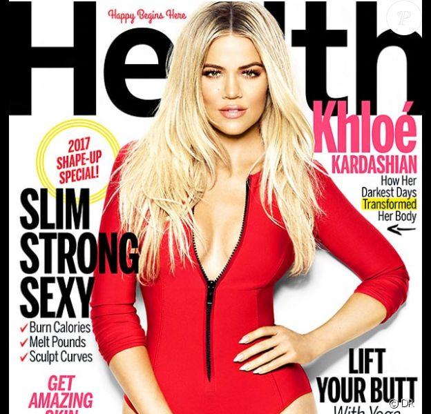 Khloé Kardashian en couverture du magazine Health au mois de décembre 2016