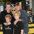 Ray Liotta avec James Caan, Linda Stokes et leurs enfants James Arthur and Jacob Nicholas à Los Angeles, le 8 octobre 2007.