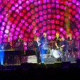 """Johnny Hallyday, Eddy Mitchell et Jacques Dutronc - Premier concert """"Les Vieilles Canailles"""" à Paris, du 5 au 10 novembre 2014."""