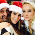 Karine Ferri fête Noël avec Elodie Gossuin chez RFM. Photo postée sur Twitter le 23 décembre 2016.