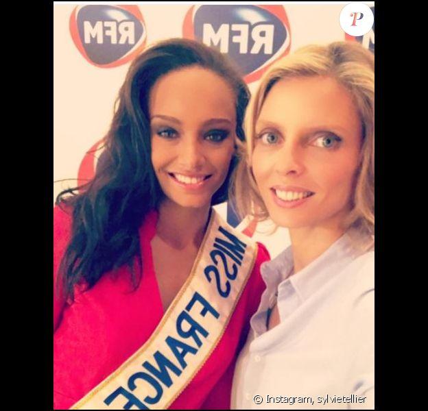 Miss France 2017 Alicia Aylies et Sylvie Tellier sur Instagram, décembre 2016
