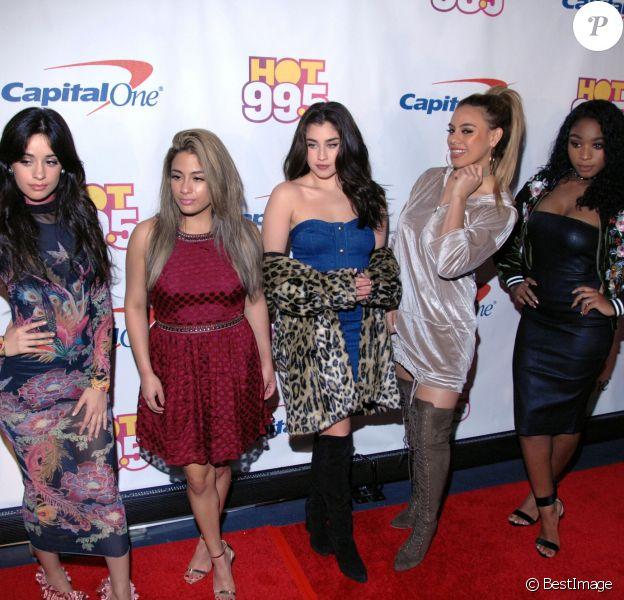 Le groupe Fifth Harmony (Dinah Jane Hansen, Camila Cabello, Ally Brooke, Lauren Jauregui et Normani Kordei ) à la soirée Hot 99.5's Jingle au Verizon Center à Washington, le 13 décembre 2016 © Tina Fultz via Zuma/Bestimage