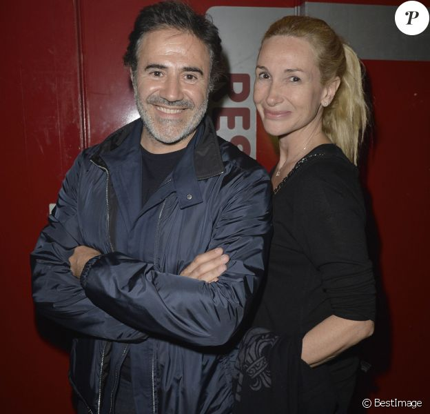 José Garcia et sa femme Isabelle Doval - People au concert de Patrick Bruel au Zénith de Paris le 31/05/2013