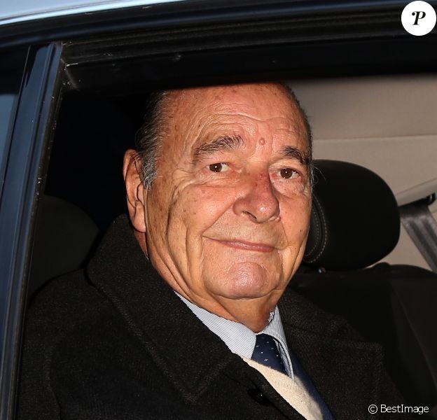 Jacques Chirac, qui fete son 80eme anniversaire aujourd'hui, a quitte son domicile en voiture. Le 29 novembre 2012