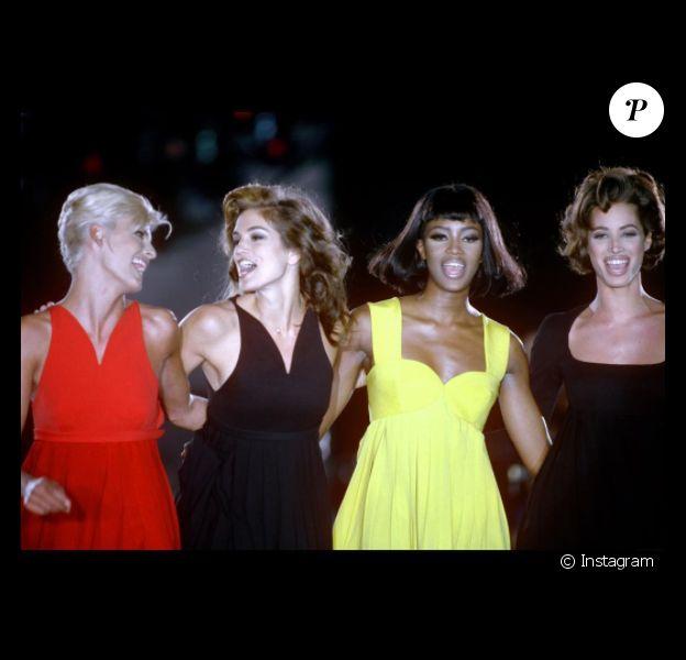 Photo postée sur Instagram par Naomi Campbell, réunissant les top models qui ont collaboré avec George Michael pour le clip Freedom ! '90