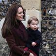 La duchesse Catherine de Cambridge et le prince William, leurs enfants George et Charlotte de Cambridge et la famille Middleton étaient réunis pour assister le 25 décembre 2016 à la messe de Noël célébrée en l'église St Mark d'Englefield, dans le Berkshire, où Pippa et son fiancé James Matthews, également présents, célébreront le 20 mai 2017 leur mariage.
