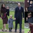 Le prince William et la duchesse Catherine de Cambridge, qui passaient les fêtes de fin d'année avec la famille Middleton, ont assisté avec leurs enfants le prince George et la princesse Charlotte à la messe de Noël célébrée en l'église St Mark d'Englefield, dans le Berkshire, le 25 décembre 2016.