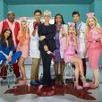 Billie Lourd, Taylor Lautner, Keke Palmer et les stars de la saison 2 de Scream Queens, 2016.