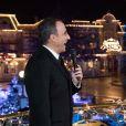 """Exclusif - Nikos Aliagas et Michèle Bernier lors de l'enregistrement de l'émission """"Toute la musique qu'on aime"""" à Disneyland Paris, le 12 décembre 2016. L'émission sera présentée par Nikos Aliagas et diffusée sur TF1 le 31 décembre. © Cyril Moreau / Bestimage"""