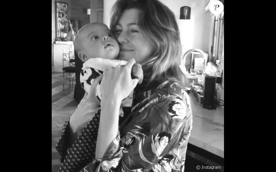 Ellen Pompeo et son fils Eli, sur Instagram, le 31 décembre 2016