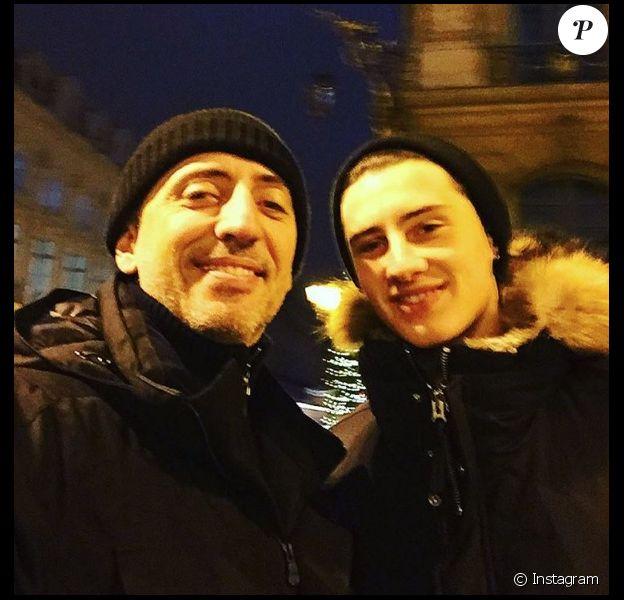Gad Elmaleh et son fils Noé sur une photo publiée sur Instagram le 1er janvier 2017
