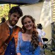 Leighton Meester sur le tournage de sa nouvelle série Making History. Photo publiée sur Instagram en décmebre 2016