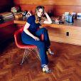 Leighton Meester, nouvelle égérie de la nouvelle campagne de la marque de chaussures du créateur Jimmy Choo pour la collection printemps-été 2015.
