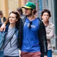 Leighton Meester et son mari Adam Brody se baladent en amoureux dans les rues de New York, le 15 mai 2014