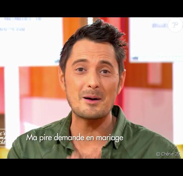 """Vincent Cerutti parle mariage avec Hapsatou Sy dans """"C'est mon choix"""" sur Chérie 25, le 4 janvier 2017."""
