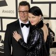 Pauley Perrette et son fiancé Thomas Arklie - Arrivées à la 57ème soirée annuelle des Grammy Awards au Staples Center à Los Angeles, le 8 février 2015.