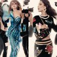 """""""Gigi et Bella Hadid partagent l'affiche de la campagne publicitaire printemps-été 2017 de Moschino."""""""